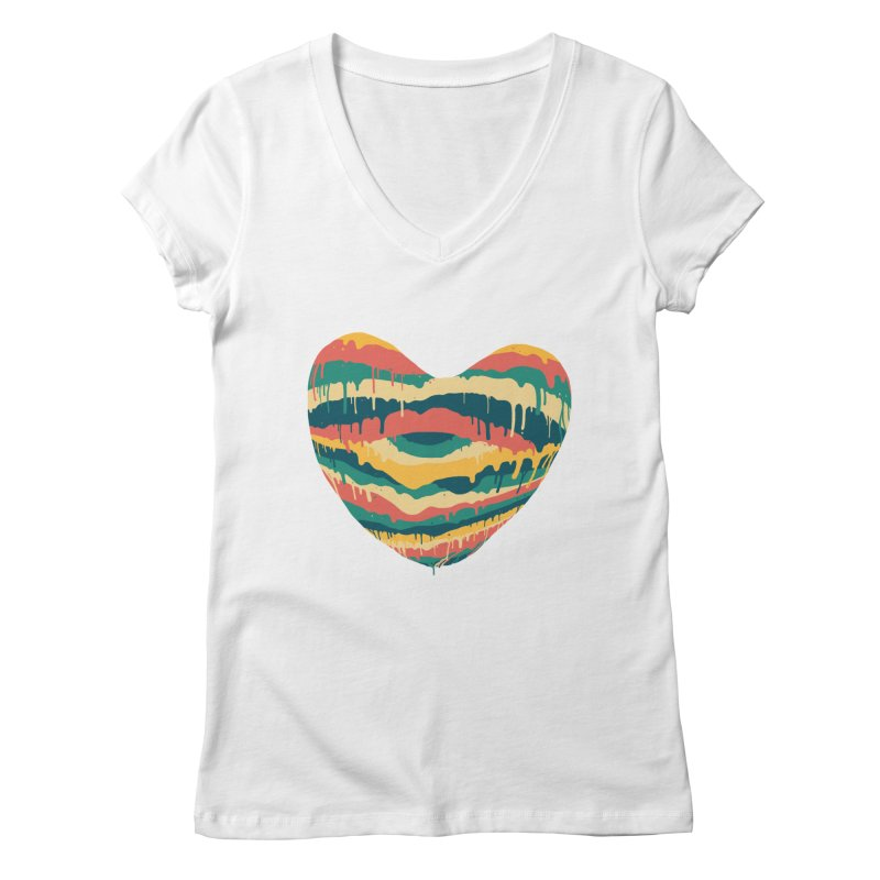 Clear eye full heart Women's V-Neck by illustraboy's Artist Shop