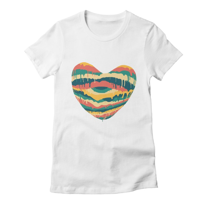 Clear eye full heart Women's Fitted T-Shirt by illustraboy's Artist Shop
