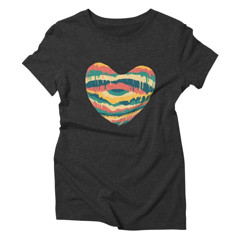 Clear eye full heart Women's Triblend T-Shirt by illustraboy's Artist Shop