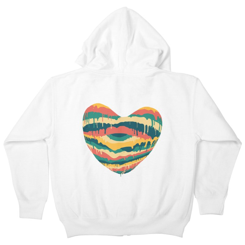 Clear eye full heart Kids Zip-Up Hoody by illustraboy's Artist Shop
