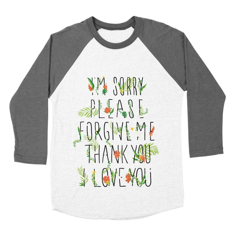 ho oponopono Men's Baseball Triblend T-Shirt by illustraboy's Artist Shop