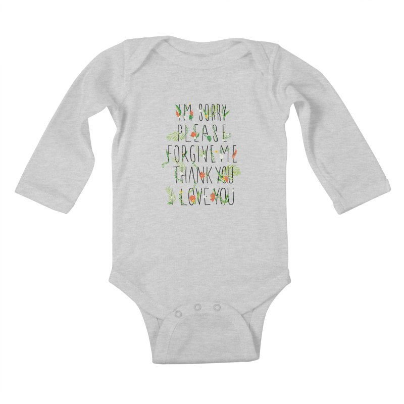 ho oponopono Kids Baby Longsleeve Bodysuit by illustraboy's Artist Shop