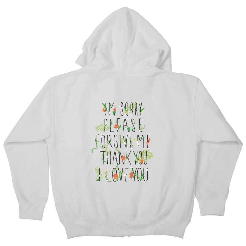 ho oponopono Kids Zip-Up Hoody by illustraboy's Artist Shop
