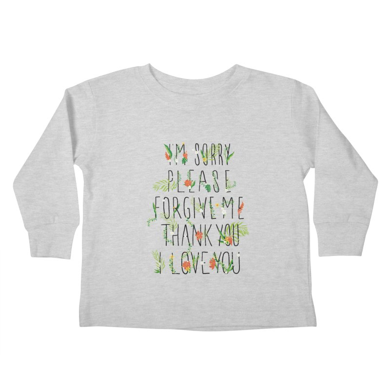 ho oponopono Kids Toddler Longsleeve T-Shirt by illustraboy's Artist Shop