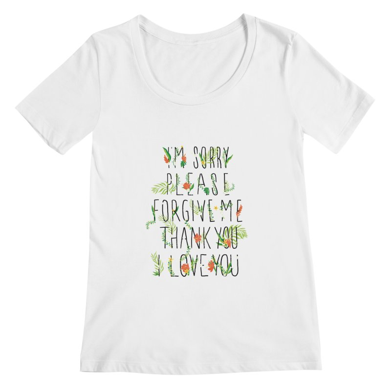 ho oponopono Women's Scoopneck by illustraboy's Artist Shop