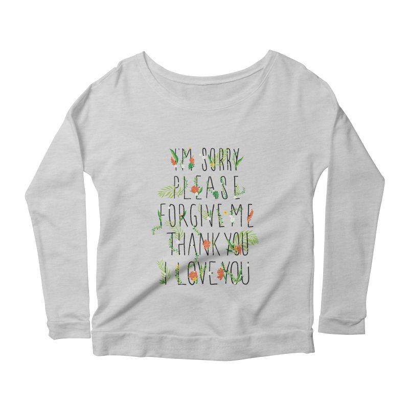 ho oponopono Women's Scoop Neck Longsleeve T-Shirt by illustraboy's Artist Shop