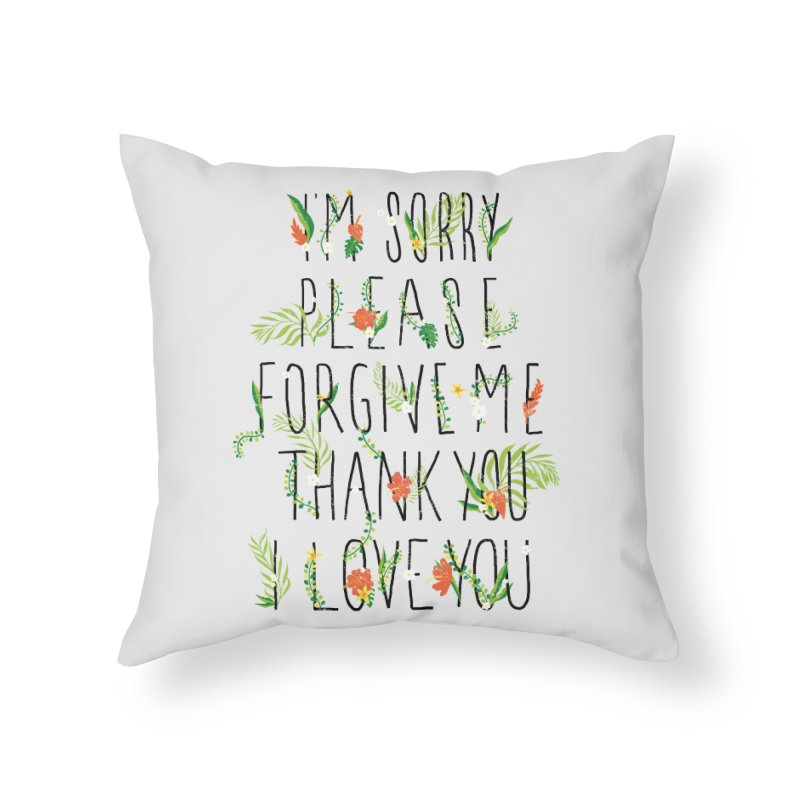 ho oponopono Home Throw Pillow by illustraboy's Artist Shop
