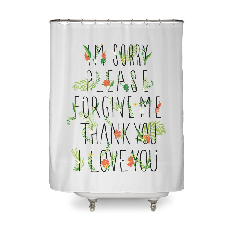 ho oponopono Home Shower Curtain by illustraboy's Artist Shop