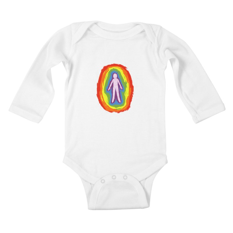 spread good vibes Kids Baby Longsleeve Bodysuit by illustraboy's Artist Shop