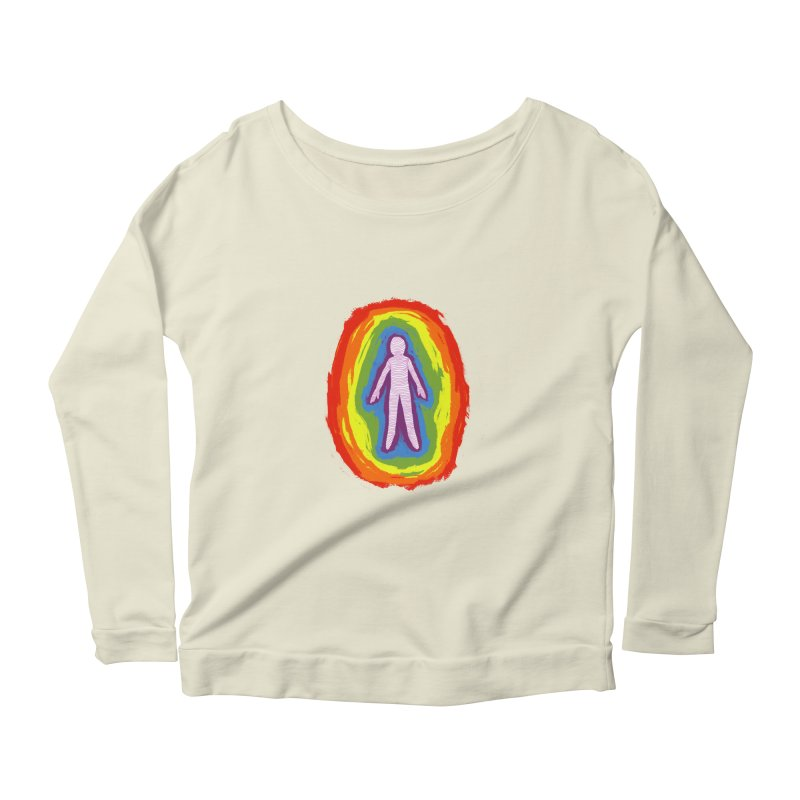 spread good vibes Women's Scoop Neck Longsleeve T-Shirt by illustraboy's Artist Shop
