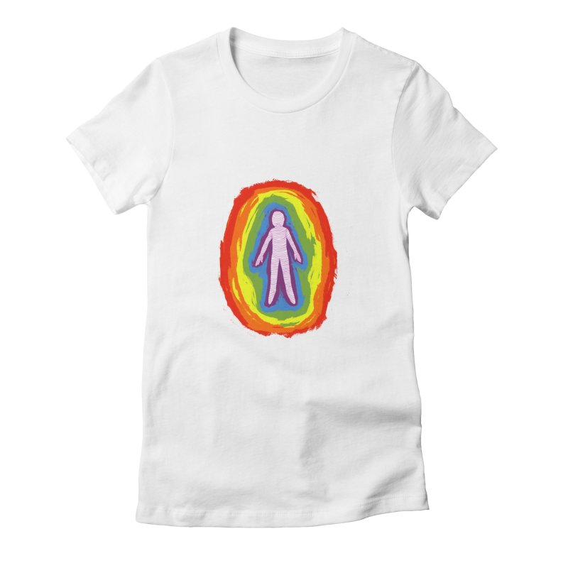 spread good vibes Women's Fitted T-Shirt by illustraboy's Artist Shop