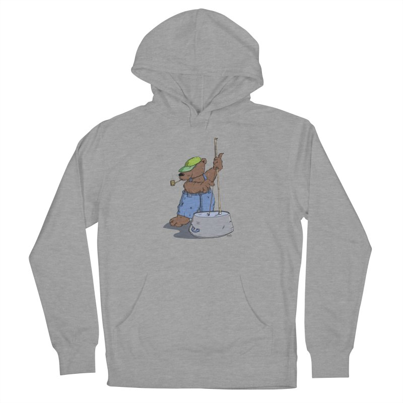The Bear plays a cool Bass Men's Pullover Hoody by Illustrated Madness