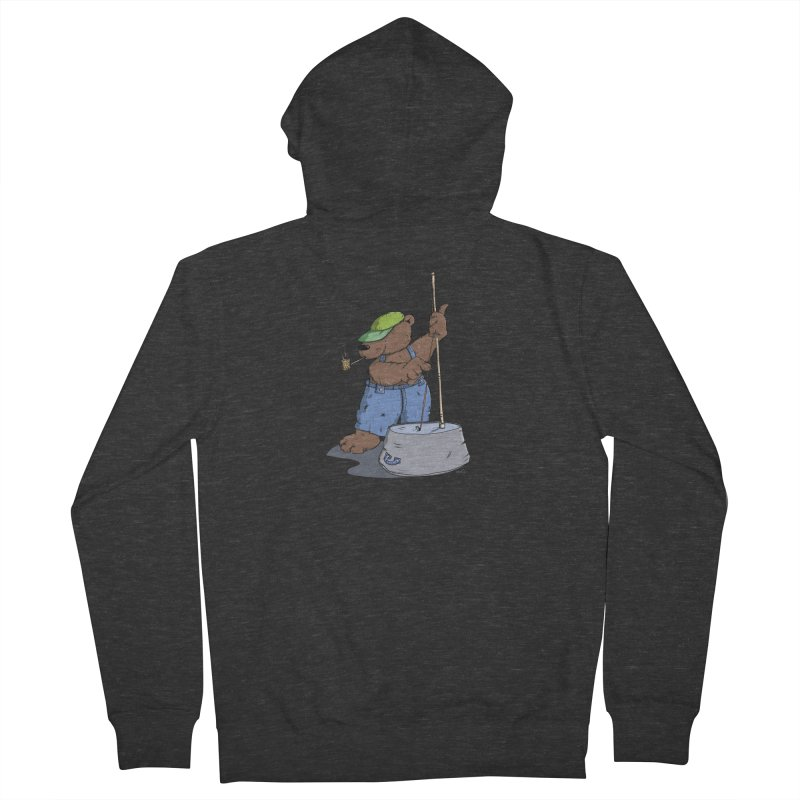 The Bear plays a cool Bass Women's Zip-Up Hoody by Illustrated Madness