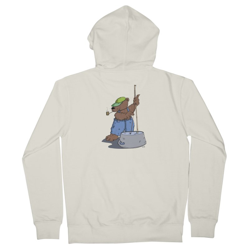 The Bear plays a cool Bass Men's Zip-Up Hoody by Illustrated Madness