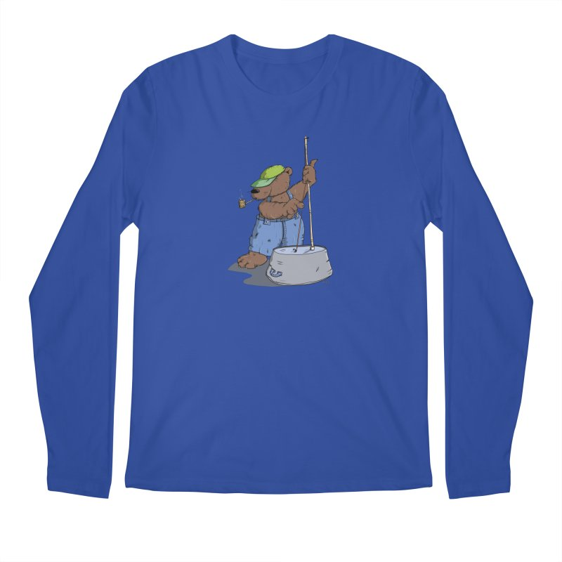 The Bear plays a cool Bass Men's Longsleeve T-Shirt by Illustrated Madness