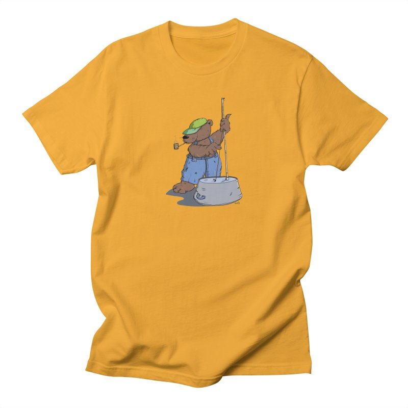 The Bear plays a cool Bass Men's T-shirt by Illustrated Madness