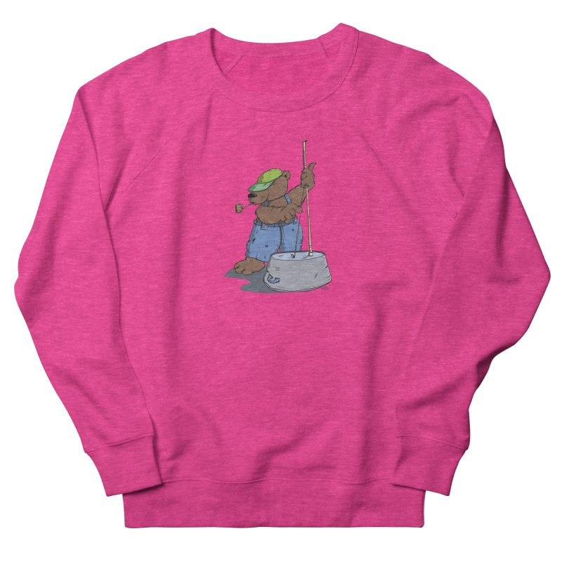 The Bear plays a cool Bass Women's Sweatshirt by Illustrated Madness