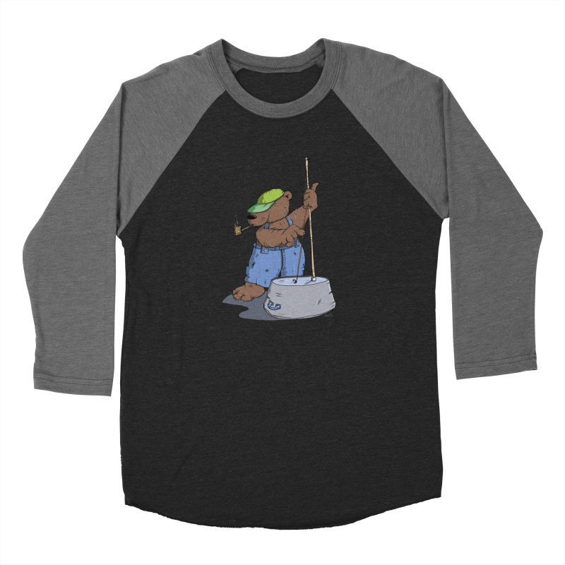 The Bear plays a cool Bass Women's Baseball Triblend T-Shirt by Illustrated Madness