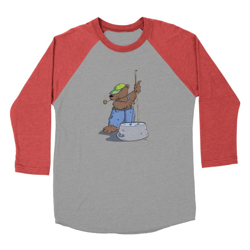 The Bear plays a cool Bass Men's Baseball Triblend T-Shirt by Illustrated Madness