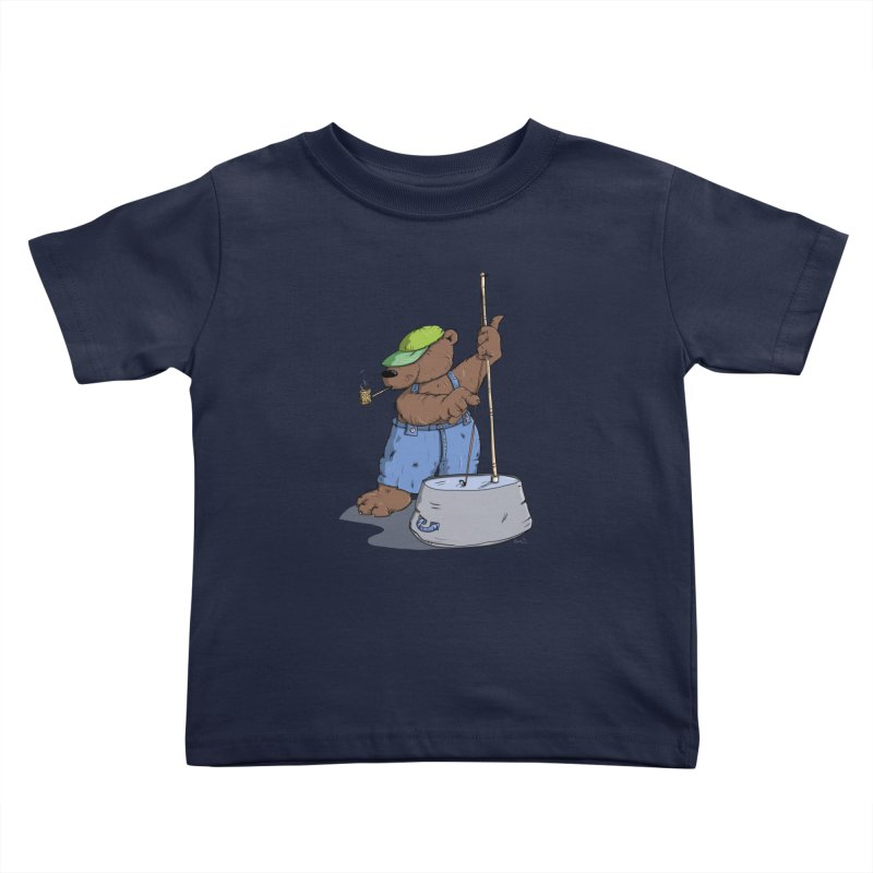 The Bear plays a cool Bass Kids Toddler T-Shirt by Illustrated Madness