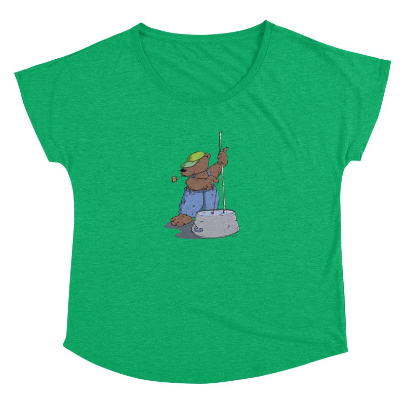 The Bear plays a cool Bass Women's Dolman by Illustrated Madness