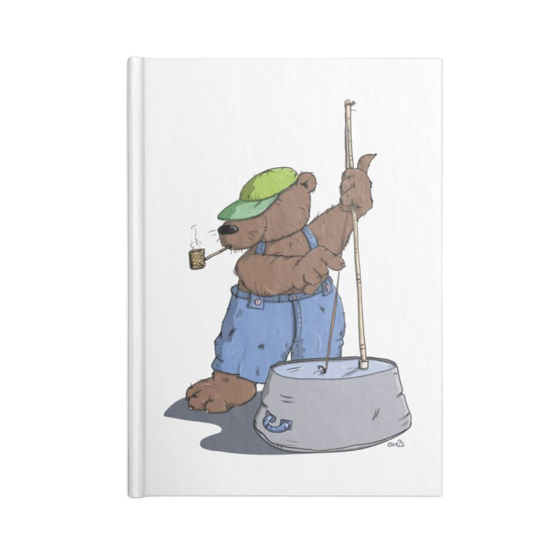 The Bear plays a cool Bass Accessories Notebook by Illustrated Madness
