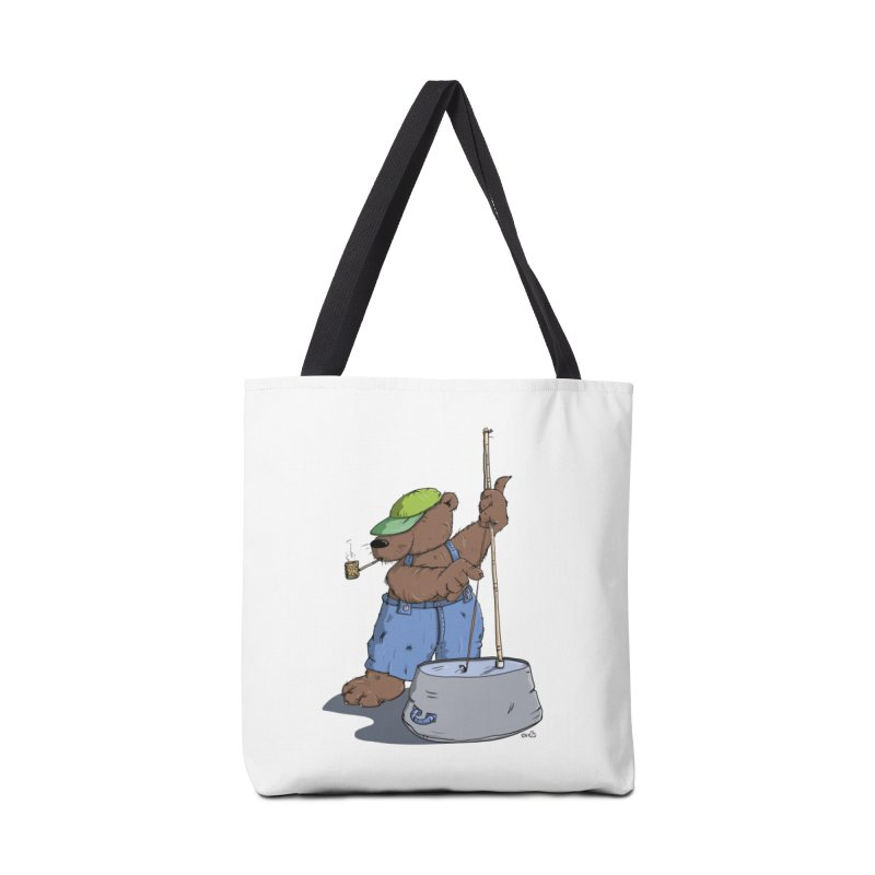 The Bear plays a cool Bass Accessories Tote Bag Bag by Illustrated Madness