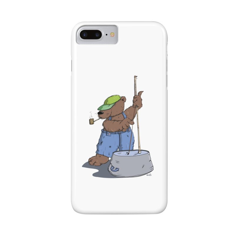The Bear plays a cool Bass Accessories Phone Case by Illustrated Madness