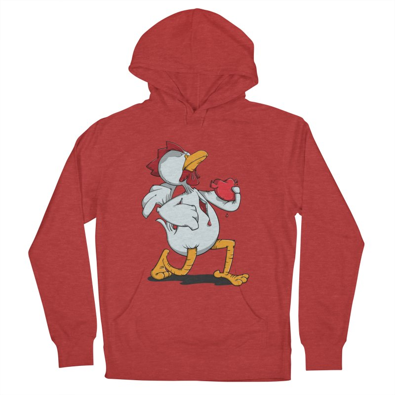 Chicken Heart Men's Pullover Hoody by Illustrated Madness