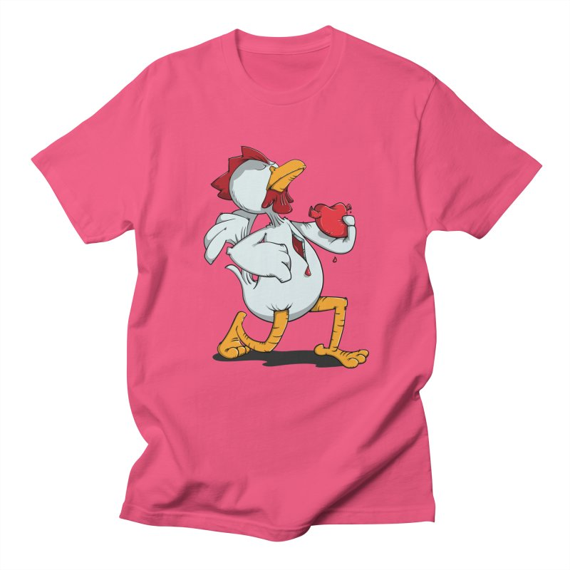 Chicken Heart Women's Unisex T-Shirt by Illustrated Madness