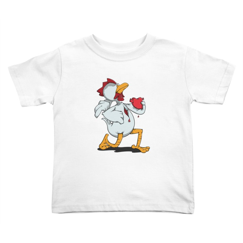 Chicken Heart Kids Toddler T-Shirt by Illustrated Madness