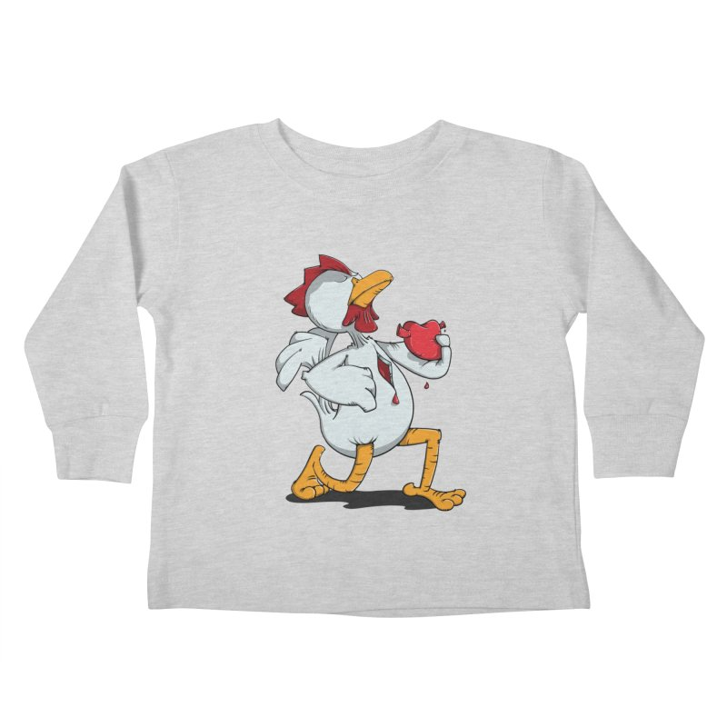 Chicken Heart Kids Toddler Longsleeve T-Shirt by Illustrated Madness