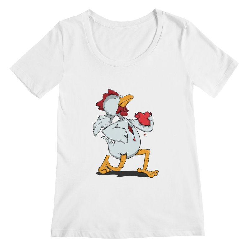 Chicken Heart Women's Scoopneck by Illustrated Madness