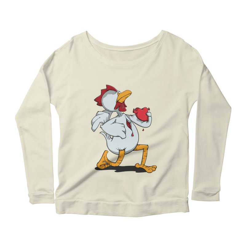 Chicken Heart Women's Longsleeve Scoopneck  by Illustrated Madness