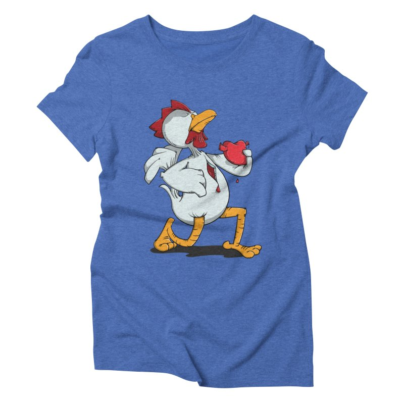 Chicken Heart Women's Triblend T-shirt by Illustrated Madness