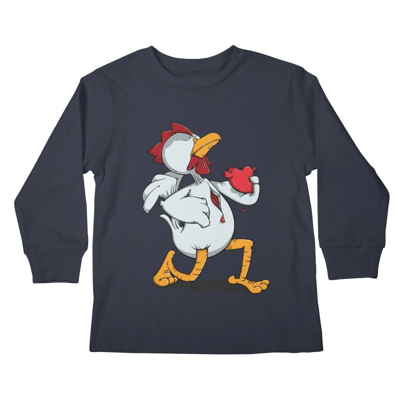 Chicken Heart Kids Longsleeve T-Shirt by Illustrated Madness