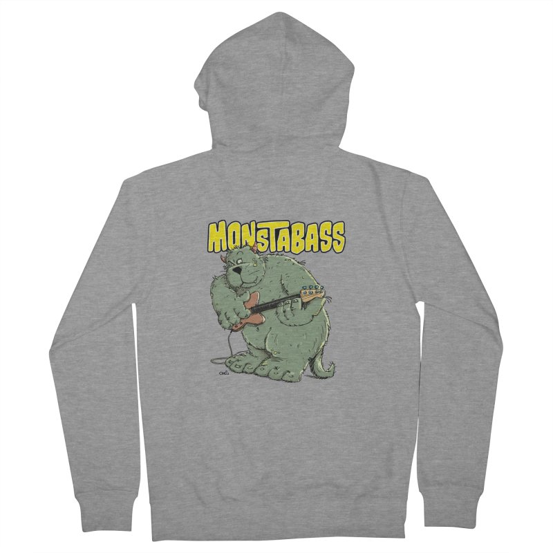 Monsterbass Men's Zip-Up Hoody by Illustrated Madness