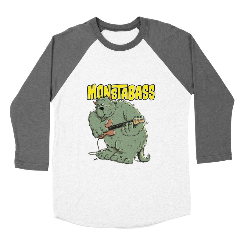 Monsterbass Women's Baseball Triblend T-Shirt by Illustrated Madness