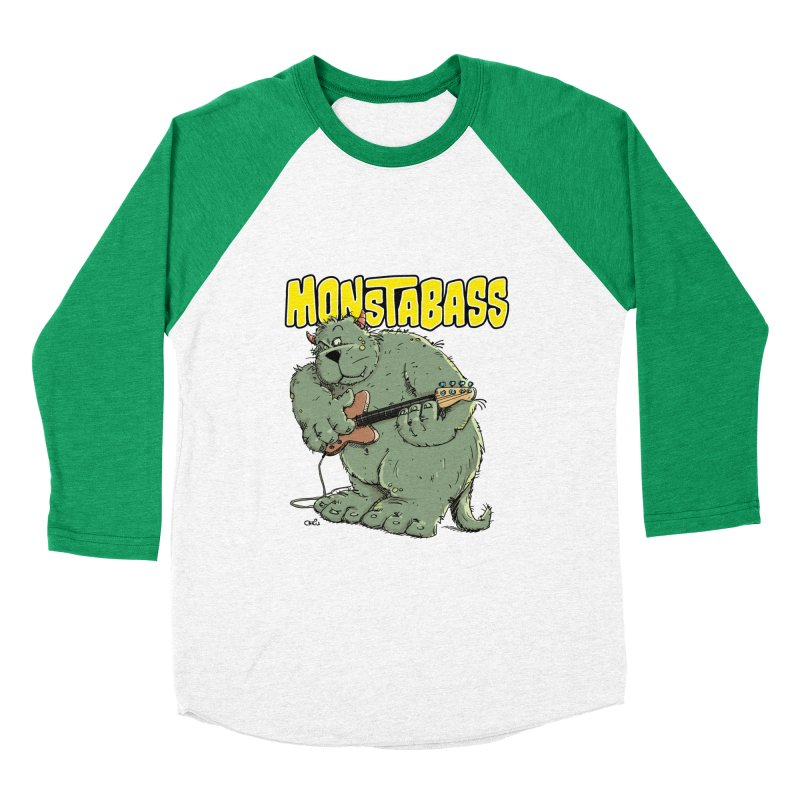 Monsterbass Men's Baseball Triblend T-Shirt by Illustrated Madness