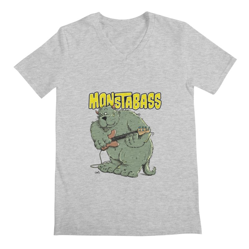 Monsterbass Men's V-Neck by Illustrated Madness