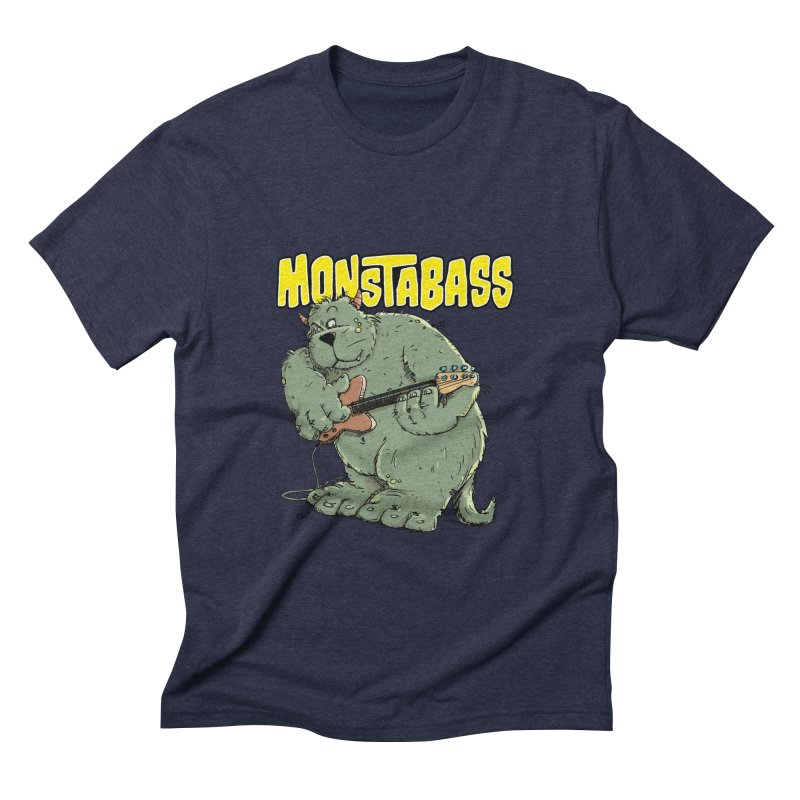 Monsterbass Men's Triblend T-shirt by Illustrated Madness
