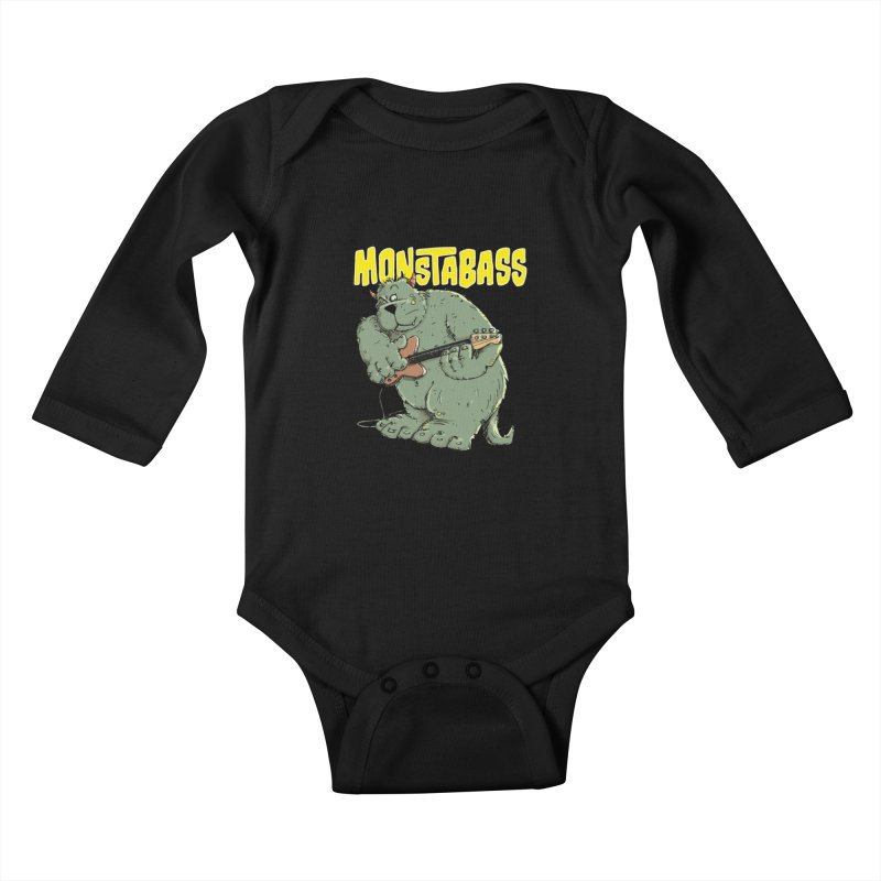 Monsterbass Kids Baby Longsleeve Bodysuit by Illustrated Madness