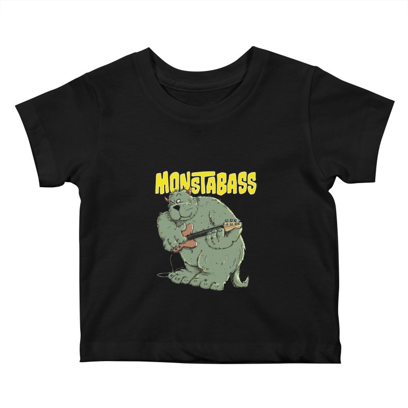 Monsterbass Kids Baby T-Shirt by Illustrated Madness
