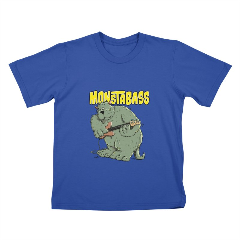 Monsterbass Kids T-Shirt by Illustrated Madness