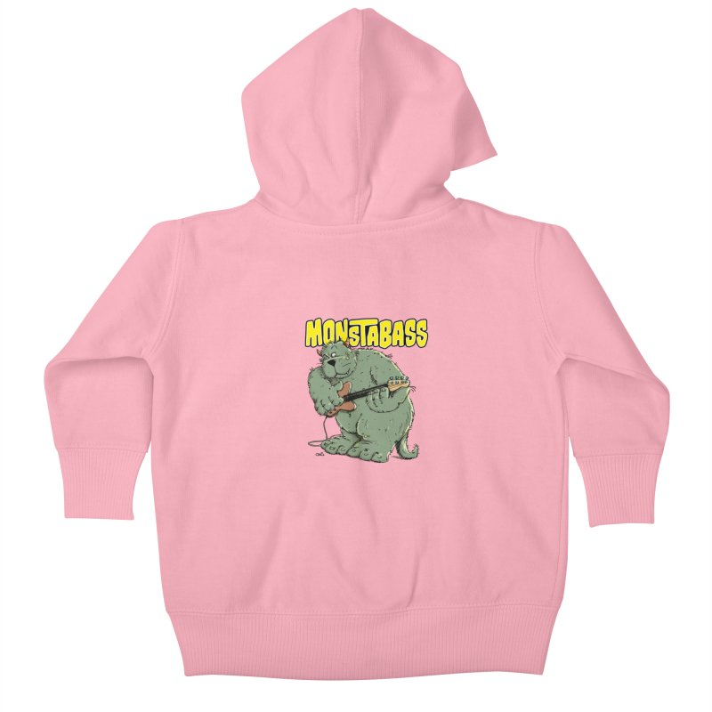 Monsterbass Kids Baby Zip-Up Hoody by Illustrated Madness