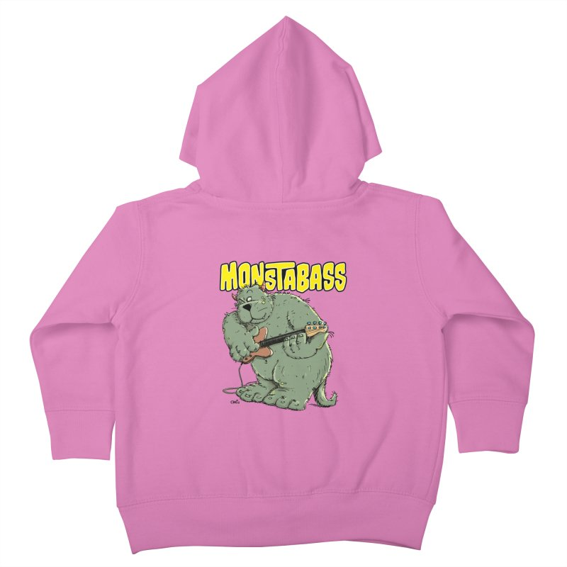Monsterbass Kids Toddler Zip-Up Hoody by Illustrated Madness