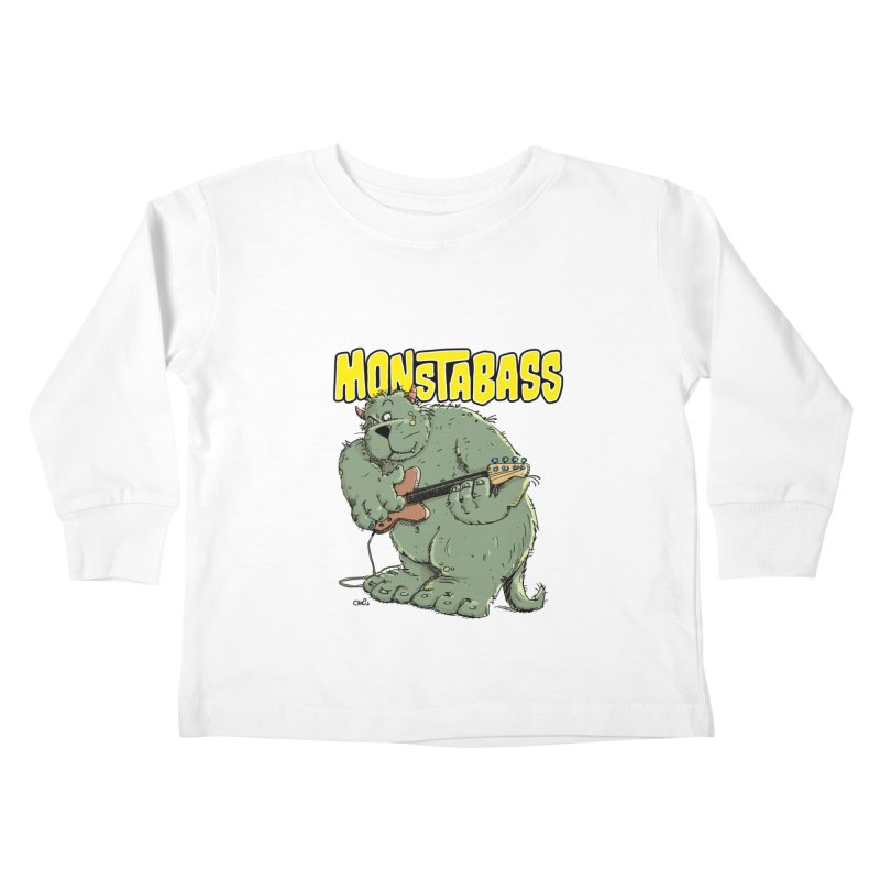 Monsterbass Kids Toddler Longsleeve T-Shirt by Illustrated Madness