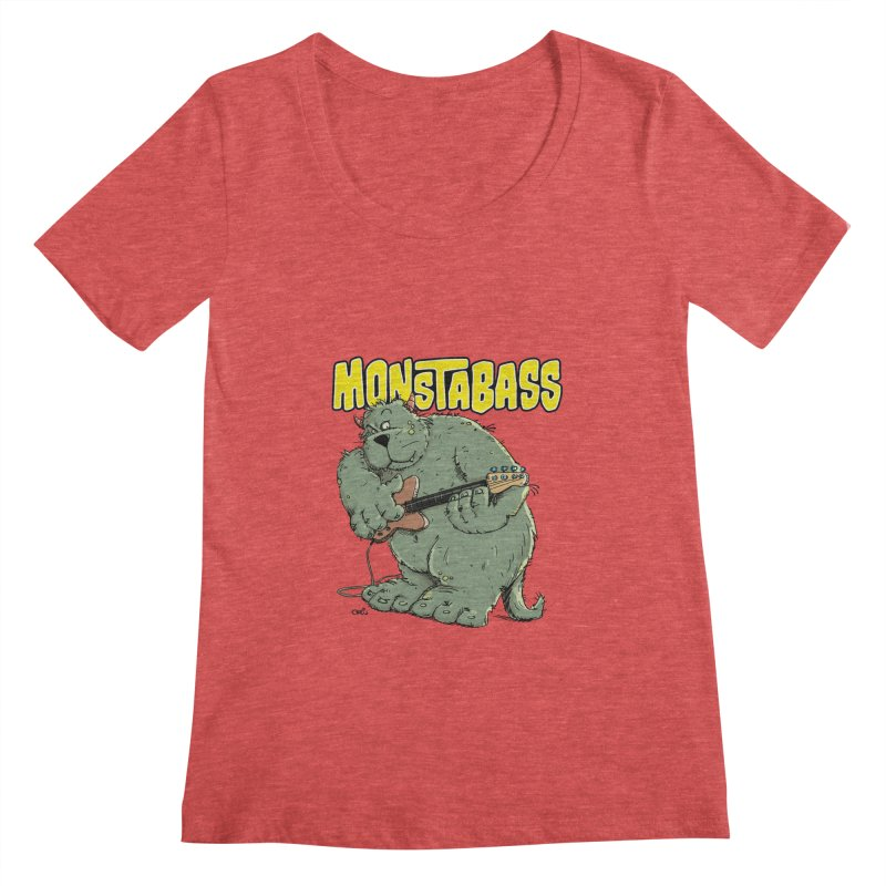 Monsterbass Women's Scoopneck by Illustrated Madness