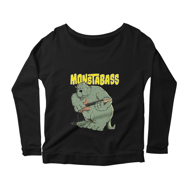 Monsterbass Women's Longsleeve Scoopneck  by Illustrated Madness