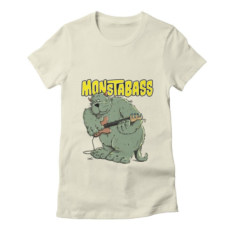 Monsterbass Women's Fitted T-Shirt by Illustrated Madness